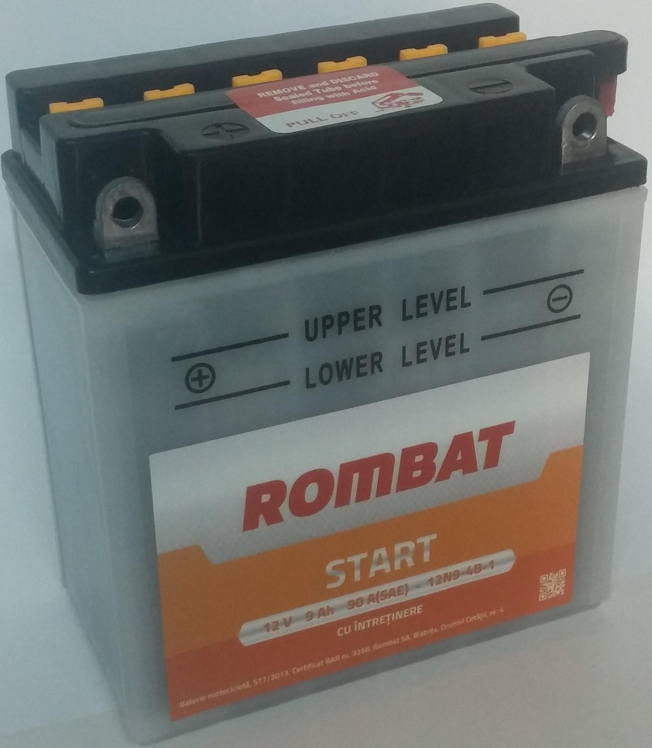 Baterie Motociclete Start Rombat