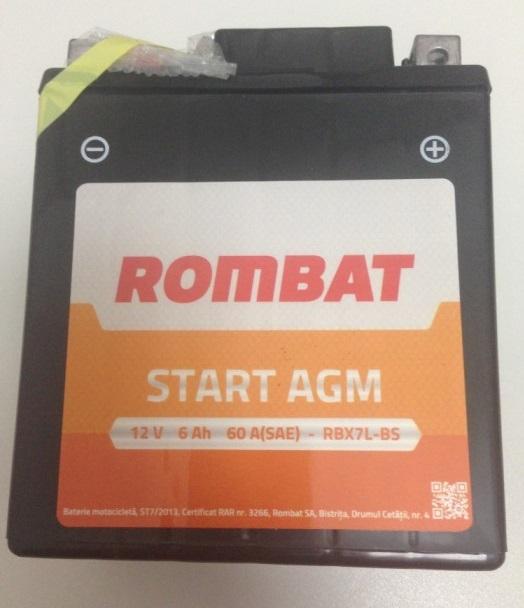 Baterie Motociclete Start AGM Rombat